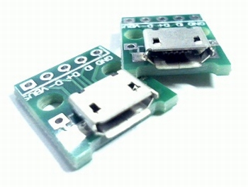 USB micro-B on pcb with solder connections