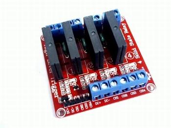 4 kanaals Solid state relais module