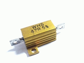 Weerstand 4,7 Ohm 10 Watt 5% met koellichaam