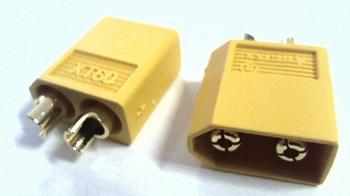 XT60 male connector voor draadaansluiting