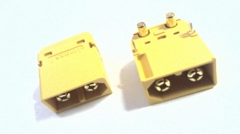 XT60 male connector voor throughole PCB montage