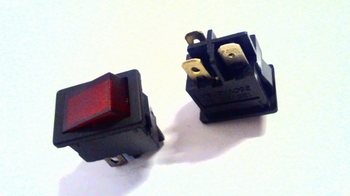 Mini switch red with light indication
