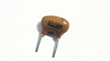Keramische resonator 3,58 Mhz 2 pins