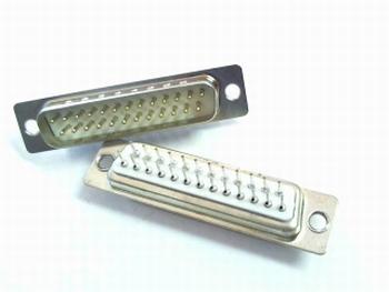 Sub-D connector male recht voor printmontage