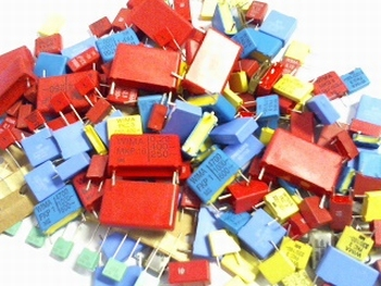 Grabbag Polyester condensatoren 205 stuks top kwaliteit!