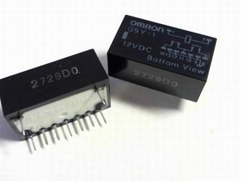 Relais Omron G5Y1HDC12 - 12 volt DC DPDT