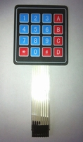 16 Key Matrix Membrane Switch Keypad 4 X4 matrix