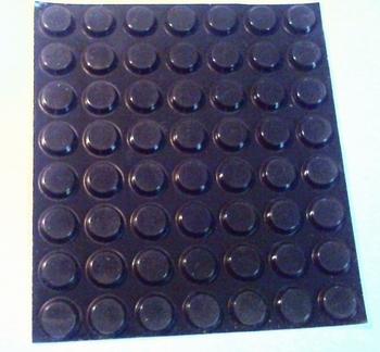 Vel met rubberen plakvoetjes 56 stuks