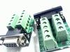 Sub D connector female 9 polig op PCB met schroefconnectors